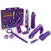 Appetizer set - paars, 9 onderdelen