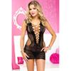 Zwarte netstof mini jurk van Musiclegs
