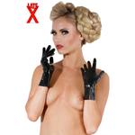 Korte latex handschoenen   zwart
