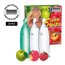 24 Condooms in fruitsmaak
