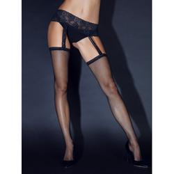 Garter Stockings With Black Lace