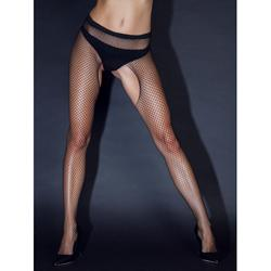Crotchless Fishnet Tights -2