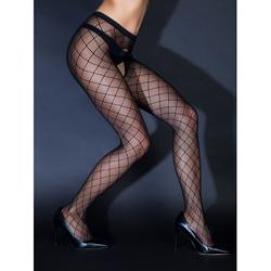 Crotchless Net Tights With Mesh Pattern
