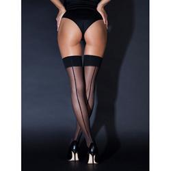 Classic Black Stockings With Backseam