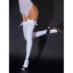 Stockings With White Satin Bows
