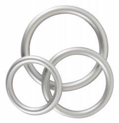 Silicone Cock Ring Set - Metallic