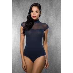 Ladies Body with Mesh Fabric - Dark Blue