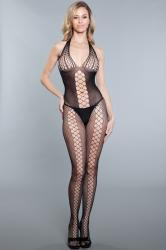 Hexagon Catsuit Met Halternek