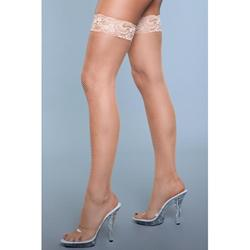 Kiss Goodnight Thigh High Stockings - Nude