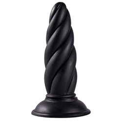 Menzstuff Twisted Buttplug - Zwart