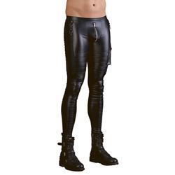 Men's Wetlook Trousers
