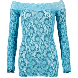 Kanten Jurk - Turquoise