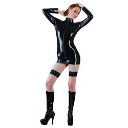 Latex Shirt Met Lange Mouwen
