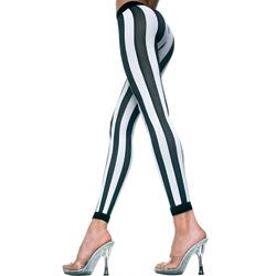 Vertical Striped Leggings - Black/White
