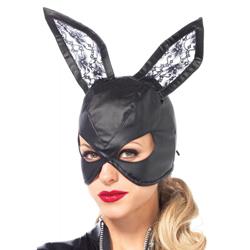 Kunstleren Bunny Masker - Zwart