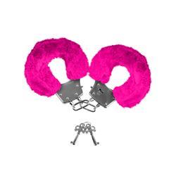 Neon Pelzmanschetten - pink