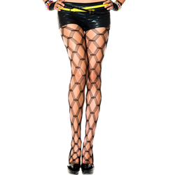 Panty Met Netprint - Huidkleur