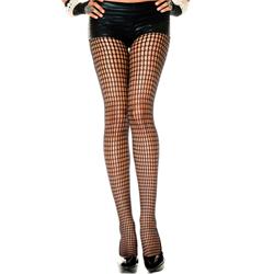 Panty Met Gaatjes Design - Zwart