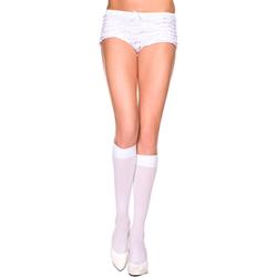 Opaque knee hi WHITE