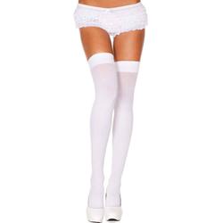 Nylon Thigh Highs - White