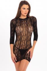 Reckless Mini Dress - Black