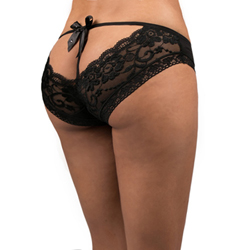 Lace Brief with Ribbon