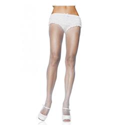 Witte Nylon Visnet Panty