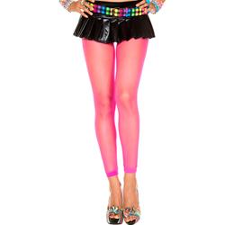 Lange Visnet Legging - Neon Roze
