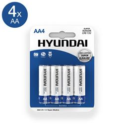 Super Alkaline AA Batteries - 4 pcs