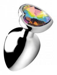 Rainbow Heart Butt Plug - Large