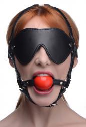 Kinky Verstelbaar Harnas Met blinddoek En Ballgag