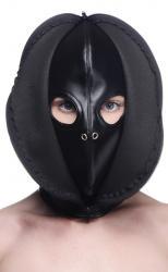 Bondage Hoofd Masker Met Rits Aan De Voorkant