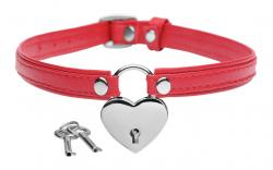 Heart Lock - Collar Met Sleutels - Rood