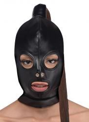 Bondage Hoofd Masker Met Paardenstaart