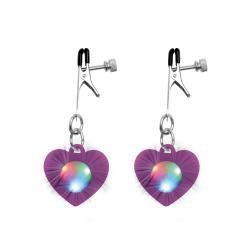 Charmed - Heart Verstelbare Tepelklemmen Met LED Verlichting