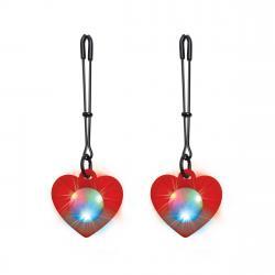 Charmed -  Heart Tweezer Tepelklemmen Met LED Verlichting
