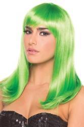 Hollywood-Perücke - Grün
