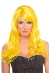 Burlesque-Perücke - Gelb