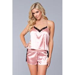 Jasmina Satin Cami & Short Set - Pink