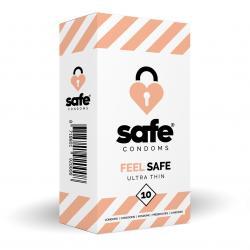 SAFE - Condoms - Ultra Thin - 10 pieces