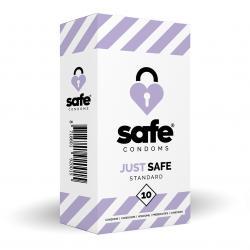 SAFE - Condones con lubricante a base de silicona - Estándar - 10 piezas