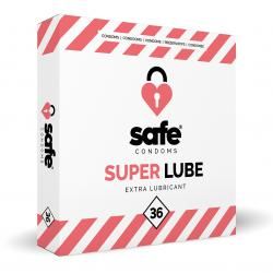 SAFE - Condones con lubricante adicional - Superlube - 36 piezas