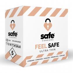 SAFE - Condoms - Ultra Thin - 5 pieces