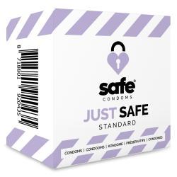 SAFE - Condones con lubricante a base de silicona - Estándar - 5 piezas