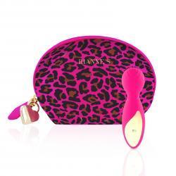 RS - Essentials - Lovely Leopard Mini Wandvibrator -  Roze