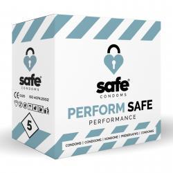 SAFE – Kondome für Orgasmusverzögerung – Performance– 5 Stück