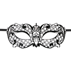 Metal Mask Lace - Black