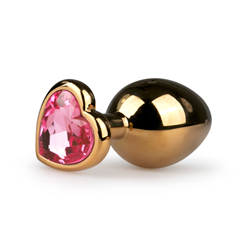 Metal Butt Plug No. 7 - Gold/Pink