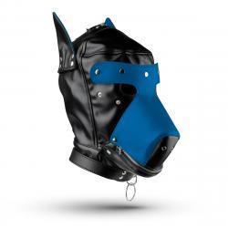 Hondenmasker - Zwart/Blauw