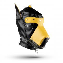 Hondenmasker - Zwart/Geel